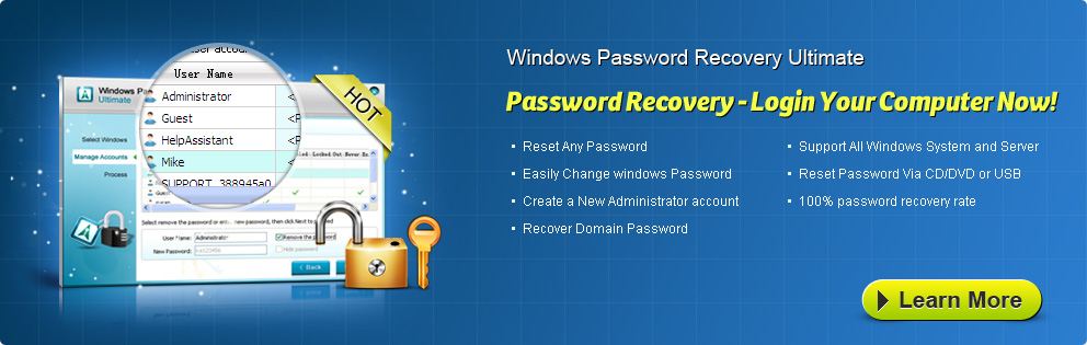 Windows Password Recovery Ultimate