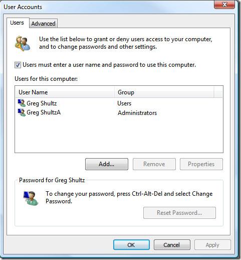 reset Vista admin password